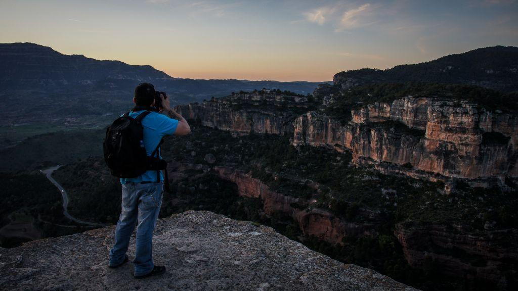 Fotografiando un paisaje al atardecer