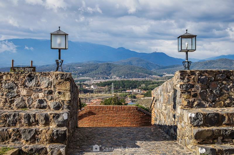 El Montseny desde el castillo de Hostalric