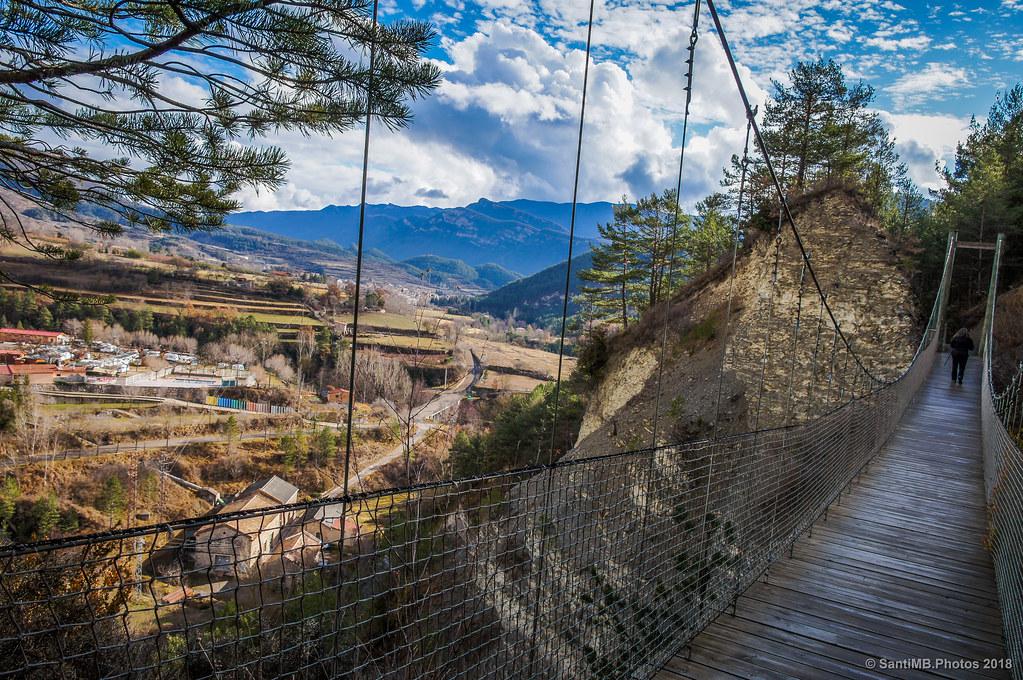 Bagà y el valle del Bastareny desde la Via del Nicolau