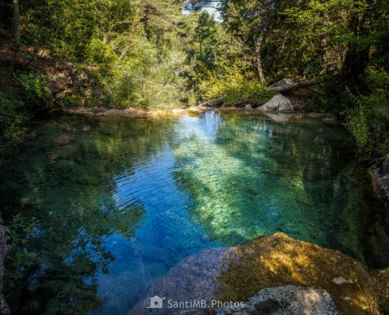 La cabecera del río Brugent entre Capafonts y la Cova de les Gralles